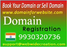 Domain Registration Booking .com.in.net .co.in