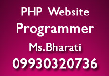 PHP web Programmer in India